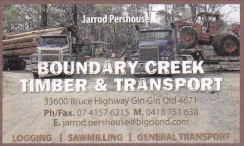 Boundary Creek Timber  Transport